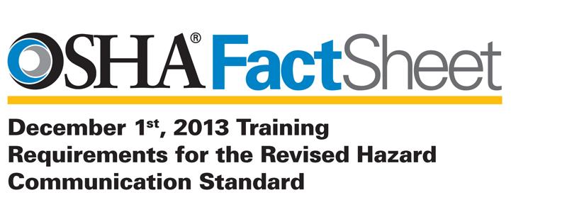OSHA Fact Sheet 2013